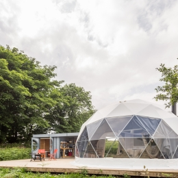 Eyl glamping geodome front