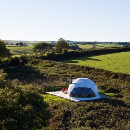 Nessa glamping geodome from above