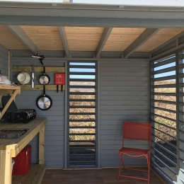 Eyl glamping geodome Private Kitchen