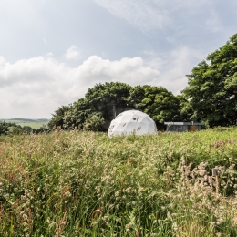 Eyl glamping geodome in spring