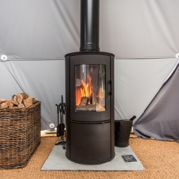 Eyl glamping geodome woodburning stove