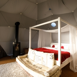 Nessa glamping geodome four poster